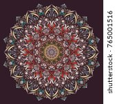 mandala  vector  floral mandala ... | Shutterstock .eps vector #765001516