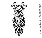 tattoo maori tribal designs... | Shutterstock .eps vector #765005086