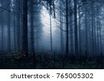 Dark Blue Colored Spooky And...