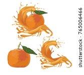 orange fruit splash | Shutterstock .eps vector #765006466