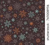 vector christmas and new year... | Shutterstock .eps vector #765008956