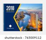 business brochure cover design... | Shutterstock .eps vector #765009112