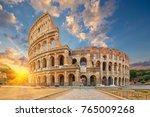 the coliseum or flavian...   Shutterstock . vector #765009268
