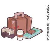 travel cartoon vector. free... | Shutterstock .eps vector #765010522