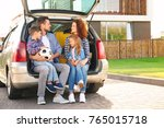 young family with children... | Shutterstock . vector #765015718