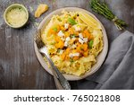 pasta mafaldine napoletane with ... | Shutterstock . vector #765021808