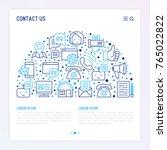 contact us concept in half... | Shutterstock .eps vector #765022822