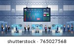 forex stock exchange graph... | Shutterstock .eps vector #765027568