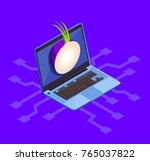 data encryption cyber security... | Shutterstock .eps vector #765037822