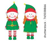 boy and girls elfs set. | Shutterstock .eps vector #765038866