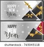 set of realistic new year... | Shutterstock .eps vector #765045118