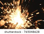 bright christmas sparkler... | Shutterstock . vector #765048628