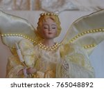 Small photo of Porcelain Christmas Angel With Wings