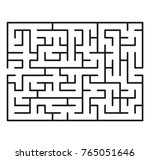 abstract maze  labyrinth with... | Shutterstock .eps vector #765051646