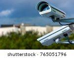 security cctv camera or... | Shutterstock . vector #765051796