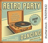 the poster in vintage style on... | Shutterstock .eps vector #765059632