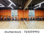 room with indoor cycling... | Shutterstock . vector #765059992