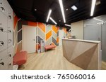 reception area with desk ... | Shutterstock . vector #765060016