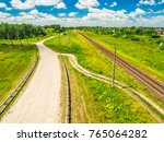 Summer Country Landscape With...