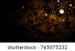 gold abstract bokeh background. ... | Shutterstock . vector #765075232