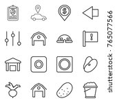 thin line icon set   report ... | Shutterstock .eps vector #765077566