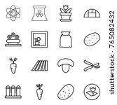 thin line icon set   atom ... | Shutterstock .eps vector #765082432