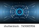 futuristic user interface...   Shutterstock .eps vector #765085906