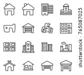 thin line icon set   home ...   Shutterstock .eps vector #765087025