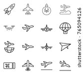 thin line icon set   rocket ... | Shutterstock .eps vector #765094126