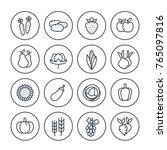 harvest  farming line icons set ... | Shutterstock .eps vector #765097816