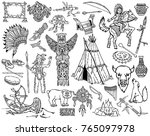 indians of north america and... | Shutterstock .eps vector #765097978