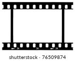 black 35 mm movie film strip | Shutterstock . vector #76509874