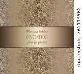vintage baroque wedding... | Shutterstock .eps vector #765114982