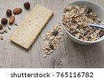 muesli with nuts hazelnuts ... | Shutterstock . vector #765116782