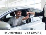 portrait of happy customer... | Shutterstock . vector #765129346
