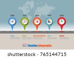 business road map timeline... | Shutterstock .eps vector #765144715