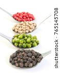 Four Kinds Of Peppercorns In...