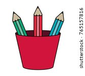 isolated pencils design | Shutterstock .eps vector #765157816
