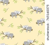 seamless pattern with cute... | Shutterstock .eps vector #765160375