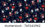 seamless floral pattern in... | Shutterstock .eps vector #765161962