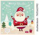 christmas vector illustration... | Shutterstock .eps vector #765161992