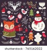 christmas vector collection... | Shutterstock .eps vector #765162022