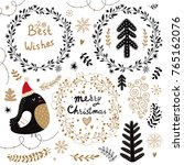 christmas vector collection... | Shutterstock .eps vector #765162076