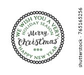 round badge with frame. merry...   Shutterstock .eps vector #765165256