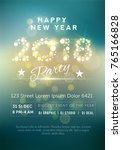 beautiful party flyer with... | Shutterstock .eps vector #765166828