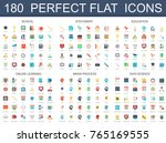 180 modern flat icons set of...