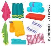cute cartoon folded vector... | Shutterstock .eps vector #765169822