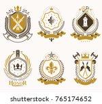 set of vector vintage elements  ... | Shutterstock .eps vector #765174652