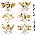 vector classy heraldic coat of... | Shutterstock .eps vector #765174712
