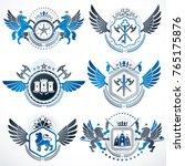 vector classy heraldic coat of... | Shutterstock .eps vector #765175876